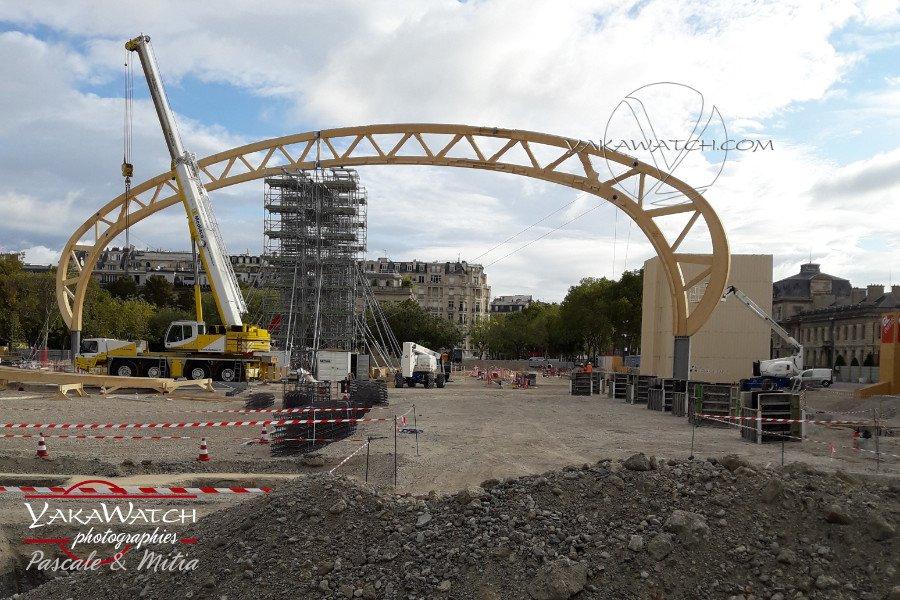 Travaux de construction du Grand Palais Ephémère - Photo Yakawatch