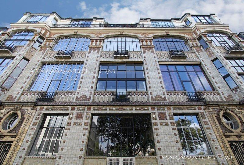 Façade immeuble Arfvidson, ateliers rue Campagne Première.