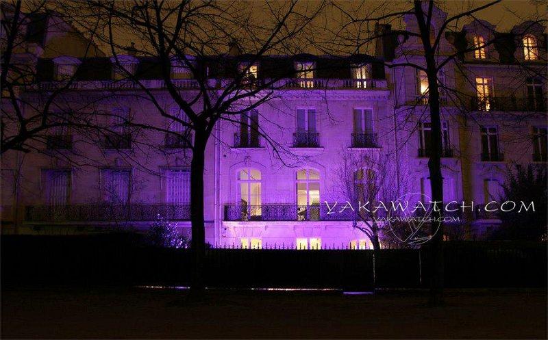 Éclairage violet de nuit…