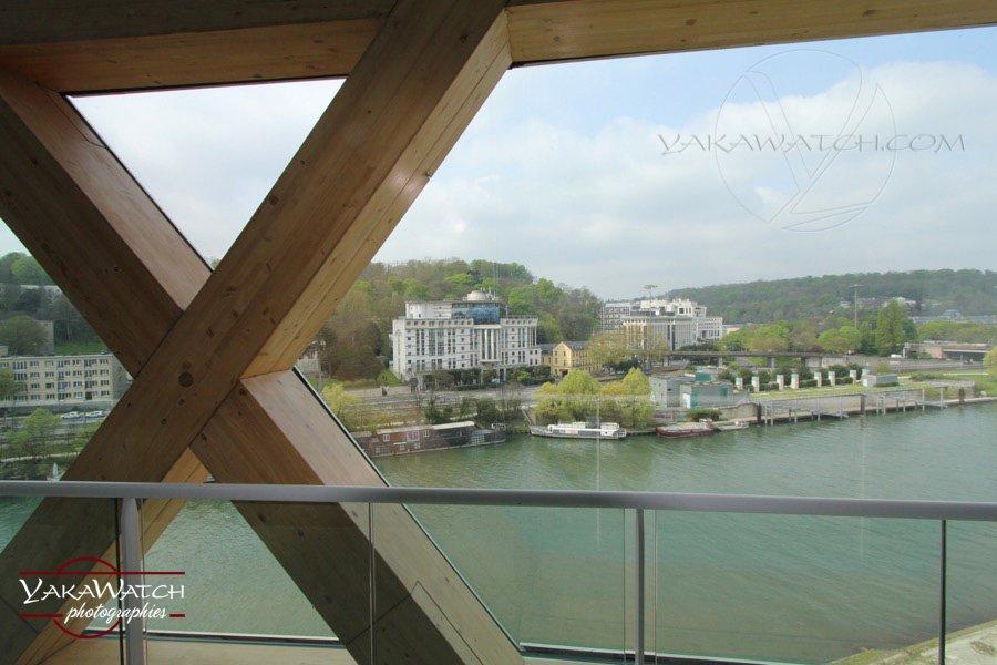 La Seine Musicale - Vu du dôme, les berges de Seine - Photo Yakawatch