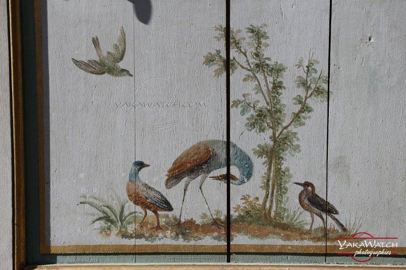 Porte du boudoir de la chaumière aux coquillages (détail de la porte)