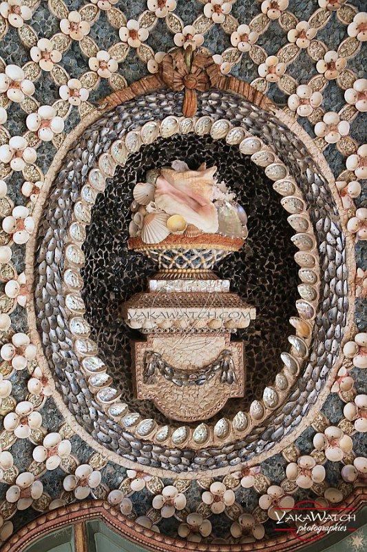 Médaillon à la chaumière aux coquillages - Rambouillet