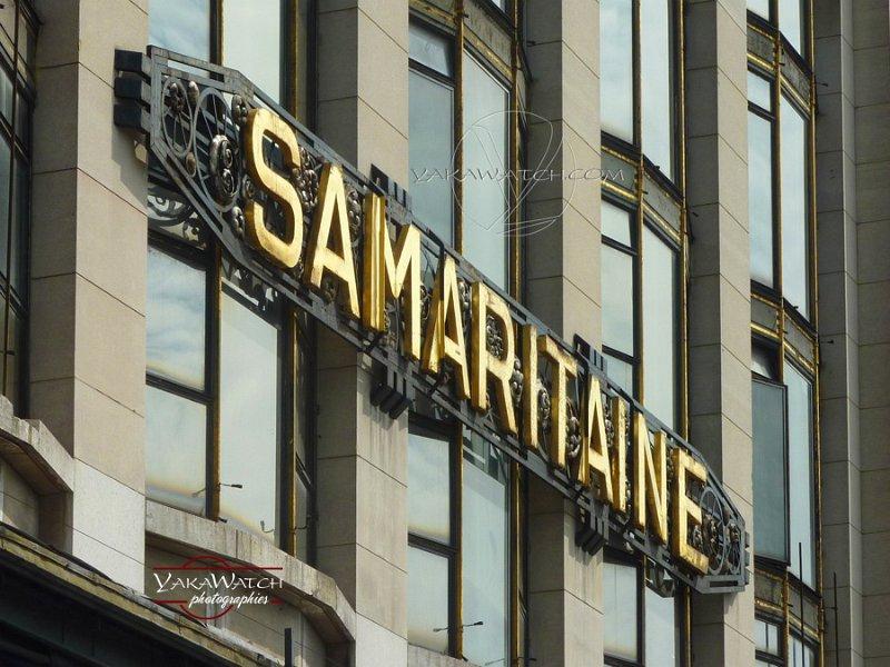 Samaritaine - Fenêtre et enseigne côté Quai du Louvre