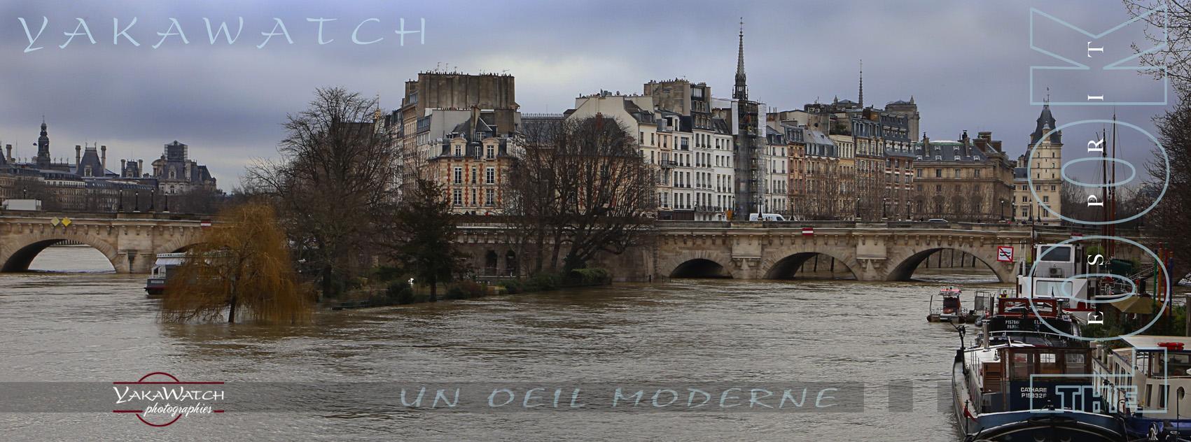 La crue de la Seine à Paris, janvier 2018 - Photos Yakawatch.com