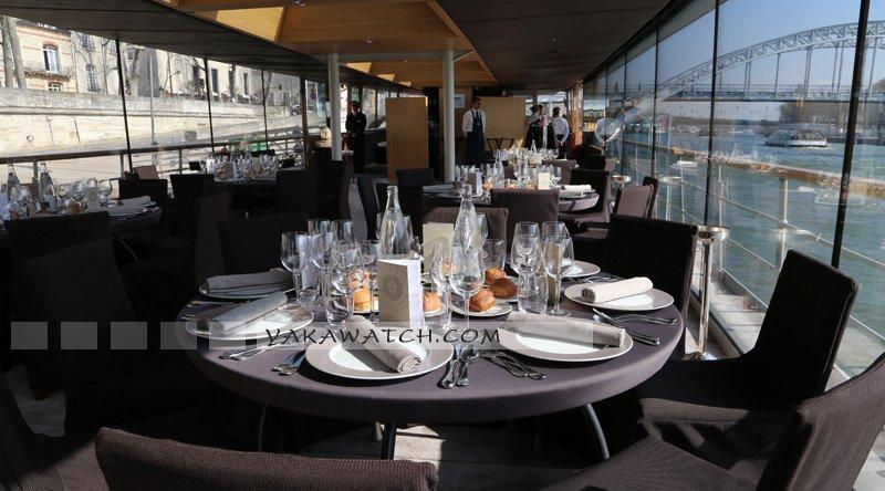 Restaurant, brasserie, traiteur, bar - Vue générale tables - Les Bateaux Parisiens