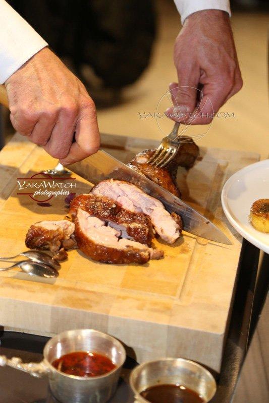 Restaurant, brasserie, traiteur, bar - Découpage de la viande chez Crom'Exquis