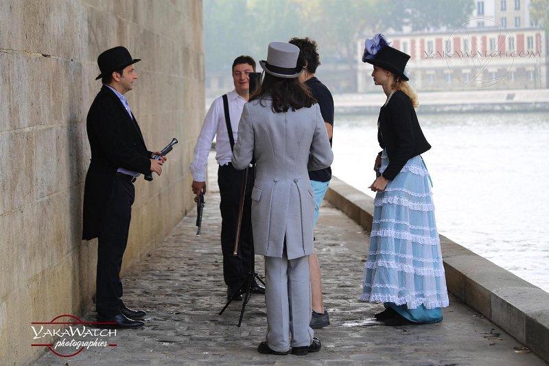 Sur le tournage de L'inconnue de la Seine, ile St Louis à Paris