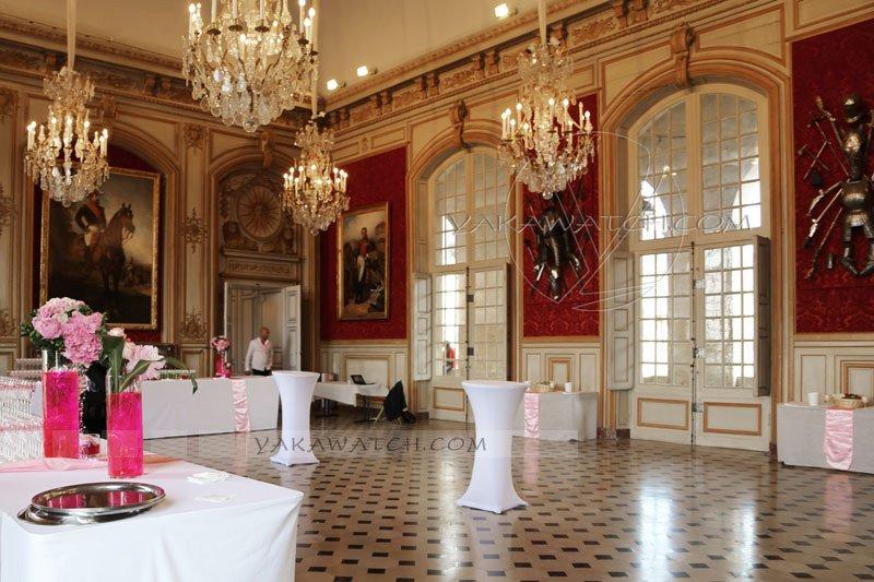 Salon d'honneur de l'hôtel des Invalides. Préparation Rallye des Princesses.