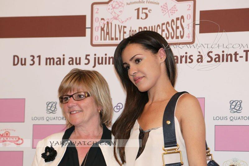 Viviane Zaniroli au cocktail de lancement du 15ème Rallye des Princesses