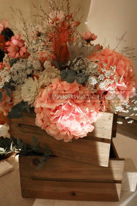 Décoration florale aux 20 ans de Oui Magazine