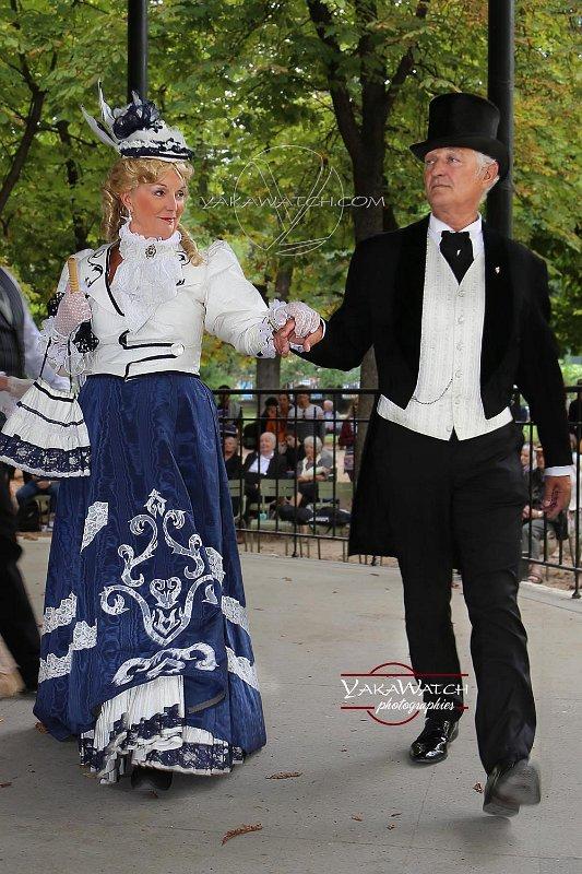 Reconstitution de danses historiques 1900 au jardin du Luxembourg