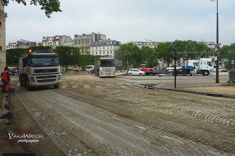 Dégoudronnage de la Place Vauban