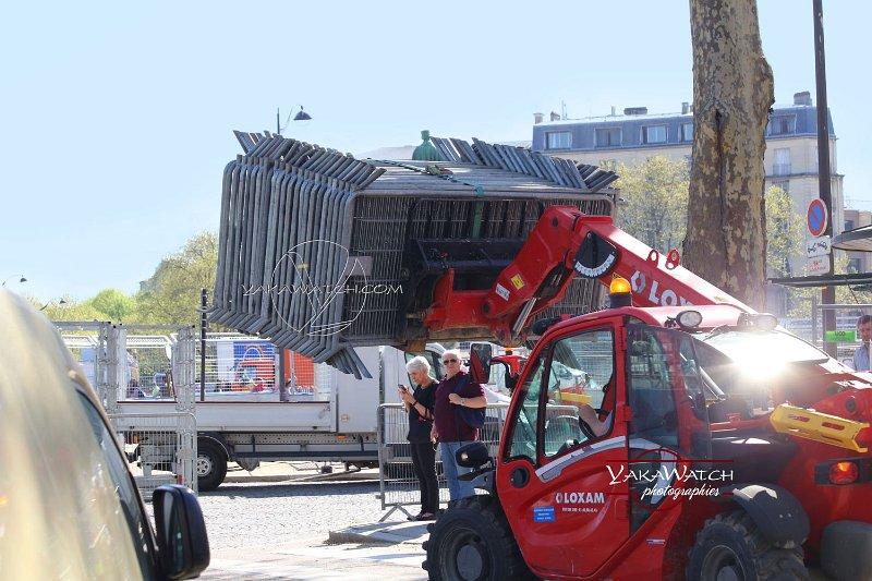 Des riverains encagés avant le ePrix Paris 2018