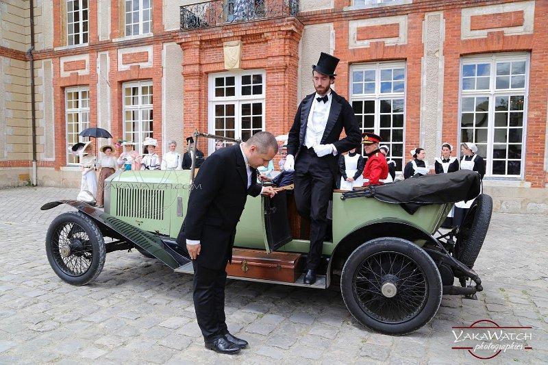 Arrivée du Prince de Galles au château de Breteuil - Reconstitution historique