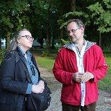 Pascale Varenne et Jean Claude Bailly au château de Groussay