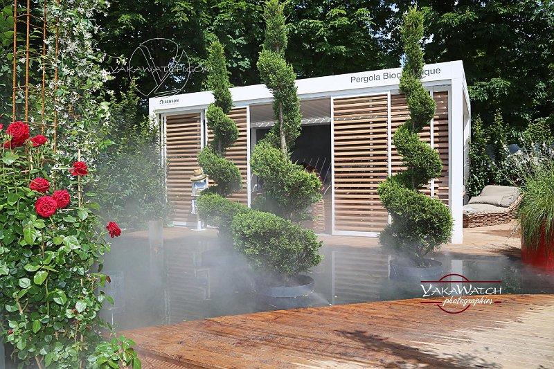 Pergola bioclimatique Renson - Jardins, Jardin