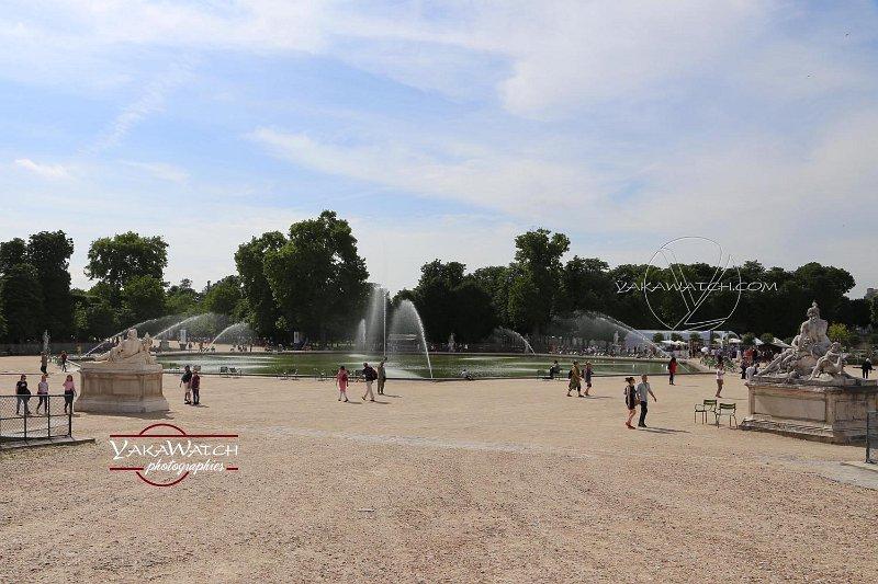 Le bassin octogonal des Tuileries à nouveau en eau