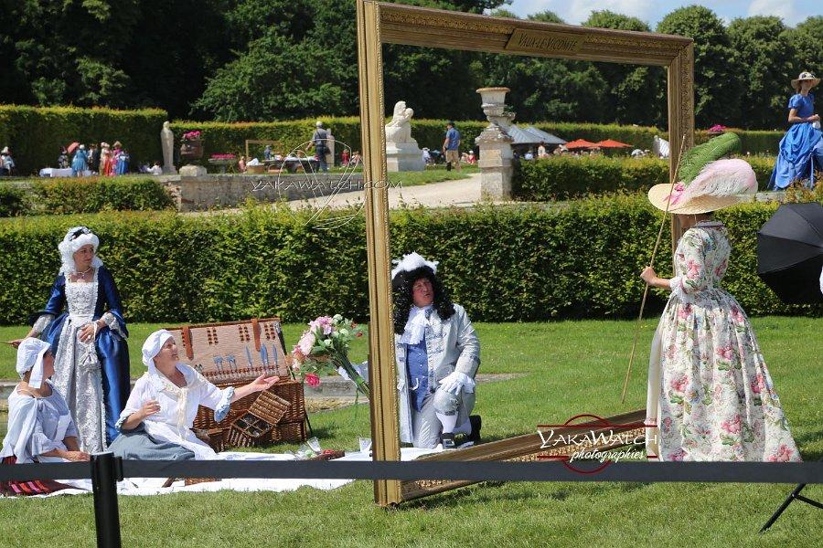 Cadre et tableau vivant à la journée Grand Siècle de Vaux le Vicomte