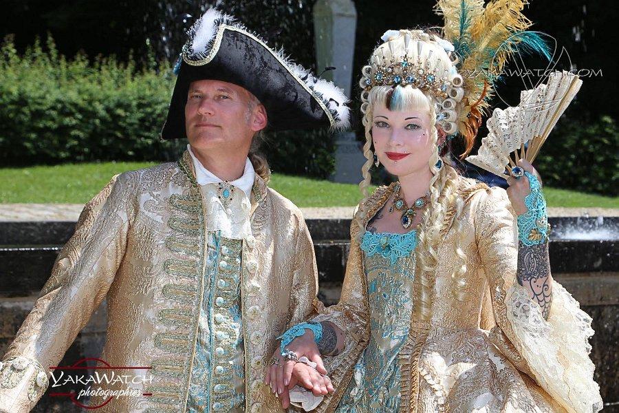 Participants costumés à la Journée Grand Siècle de Vaux le Vicomte