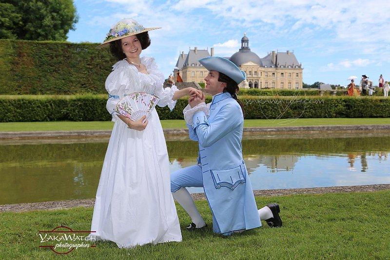 Journée Grand Siècle 2017 à Vaux le Vicomte - Yakawatch photographies - Alexandrine et Damien, baise main