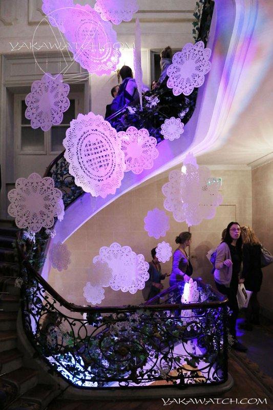 Décoration escalier aux Coulisses du Mariage