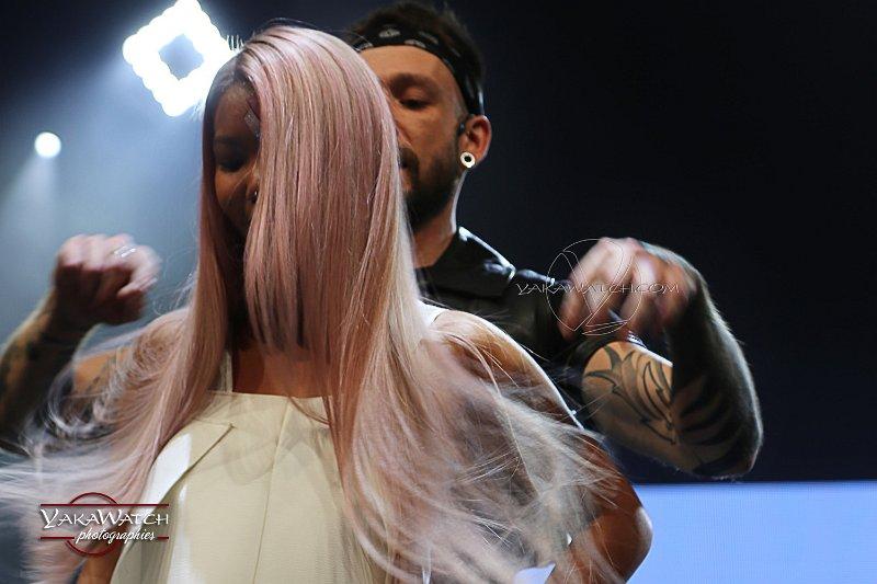 Ludovic Geheniaux au MCB Paris 2017 - Démonstration de colorations-décolorations sur cheveux asiatiques