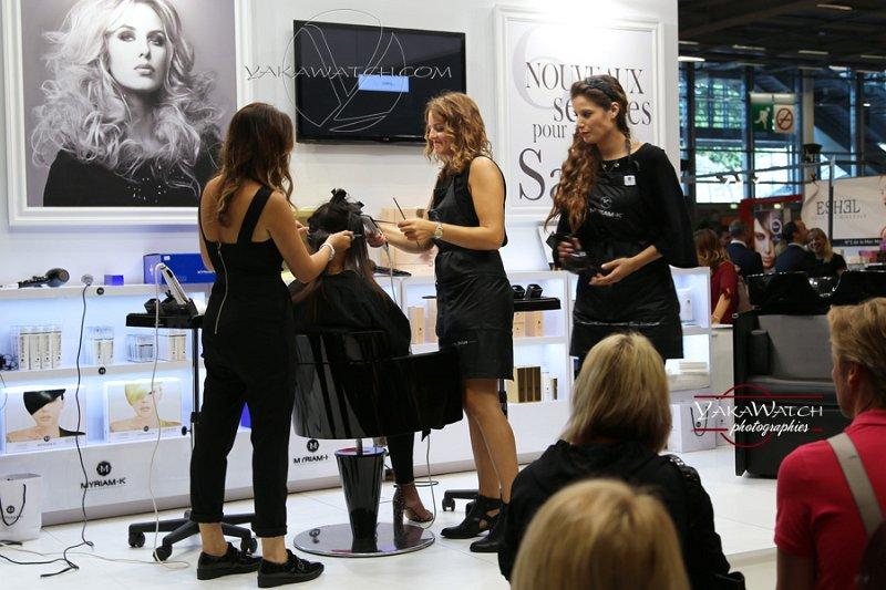 Stand et démonstration coiffure au MCB 2016