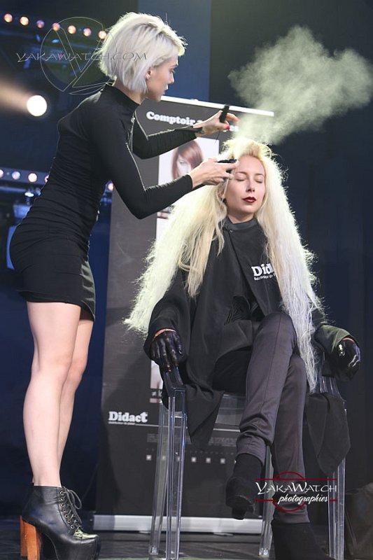 Démonstration de coiffure durant le show Didact, avec Stephane Amaru