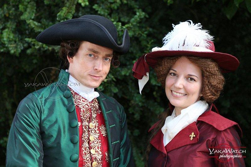 Participants en costumes du 18ème