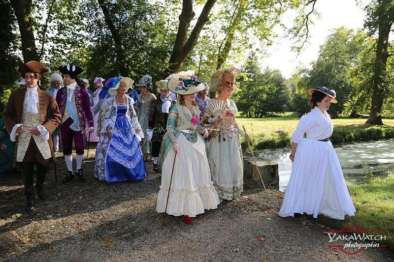 Évènement costumé à la Laiterie du château de Rambouillet