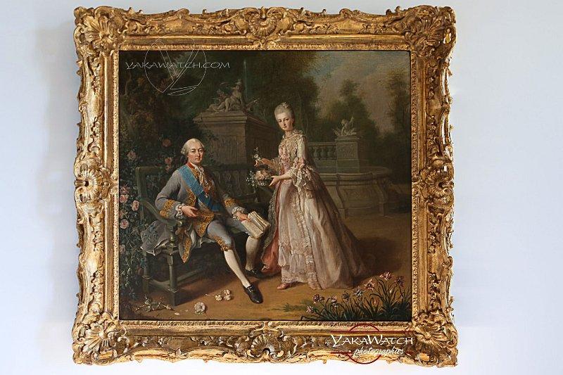 Le duc de Penthèvre et sa fille. Peinture de Jean-Baptiste Charpentier le Vieux