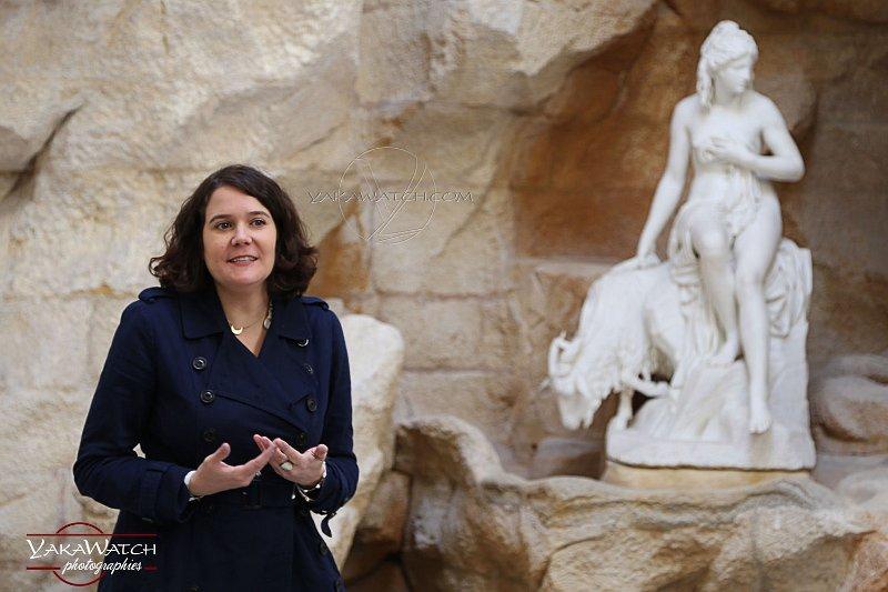 Anne Claire Nayrolle  chargée des actions éducatives et culturelles du Château de Rambouillet