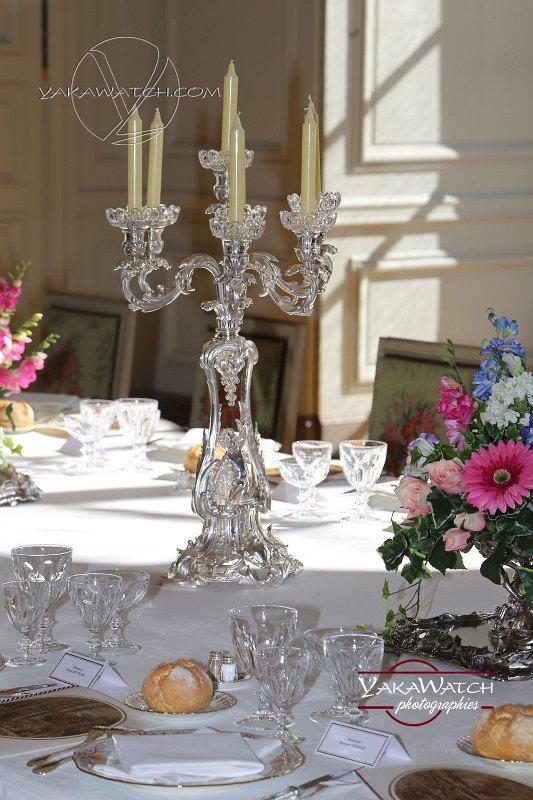 Service de table du dîner du sommet du G6