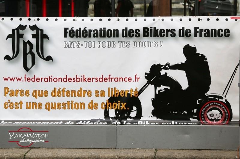 la Fédération des Bikers de France était à Rock'n Boat 2016