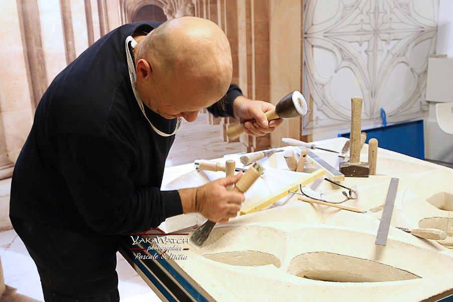 Jean Mary Allain, maître compagnon tailleur de pierre chez Vinci Construction