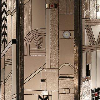 Vitrail moderne. Création Andrieux, maison du vitrail