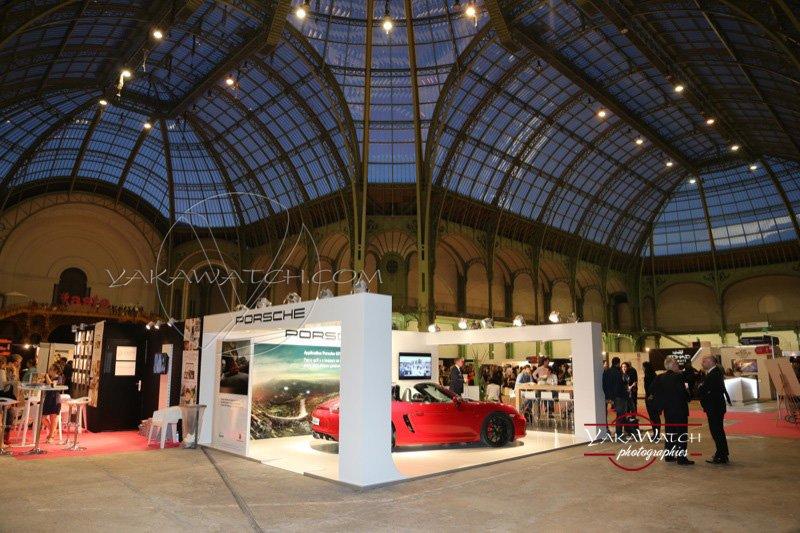 Porsche au salon Taste of Paris sous la nef du Grand Palais