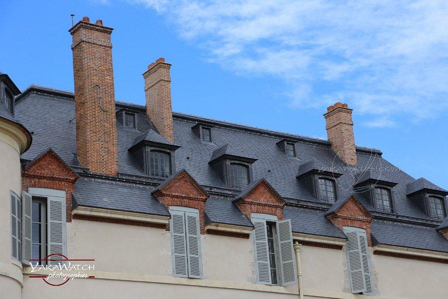 La toiture restaurée du château de Rambouillet