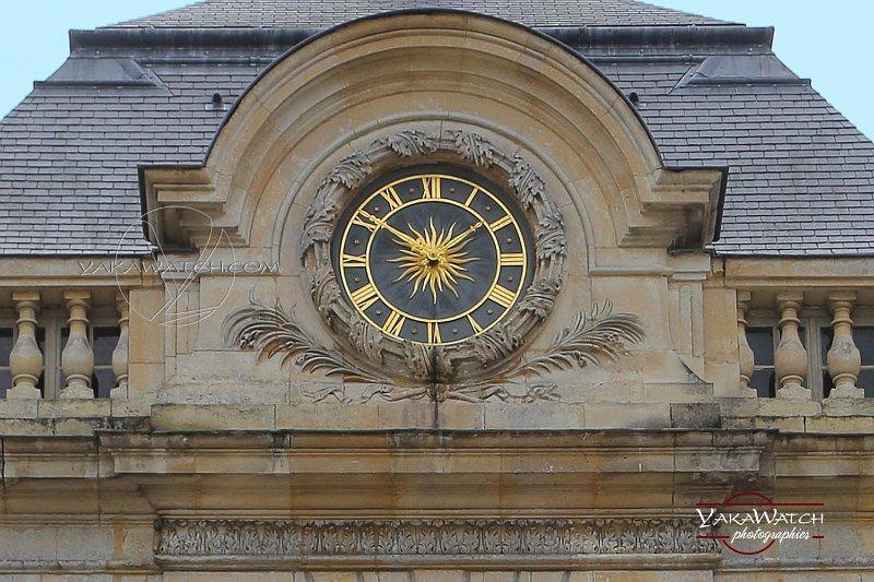 Pendule de la façade Nord du château de Vaux le Vicomte