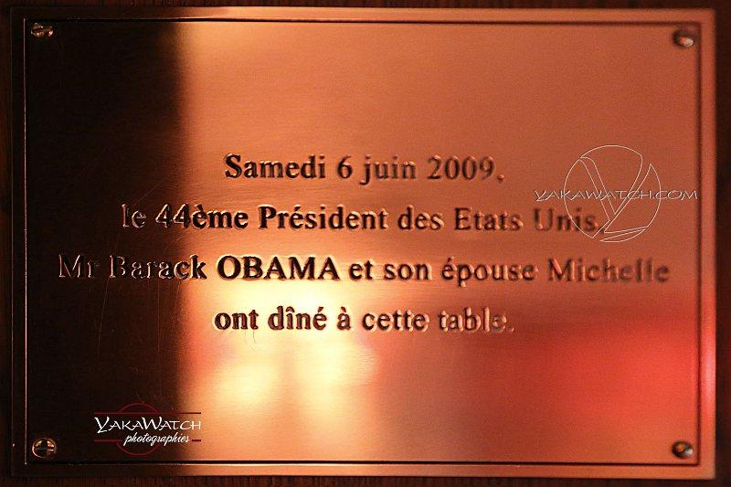 La visite du président Obama, le quart d'heure de gloire du restaurant La Fontaine de Mars