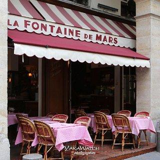 La Fontaine de Mars, restaurant de tradition, la terrasse