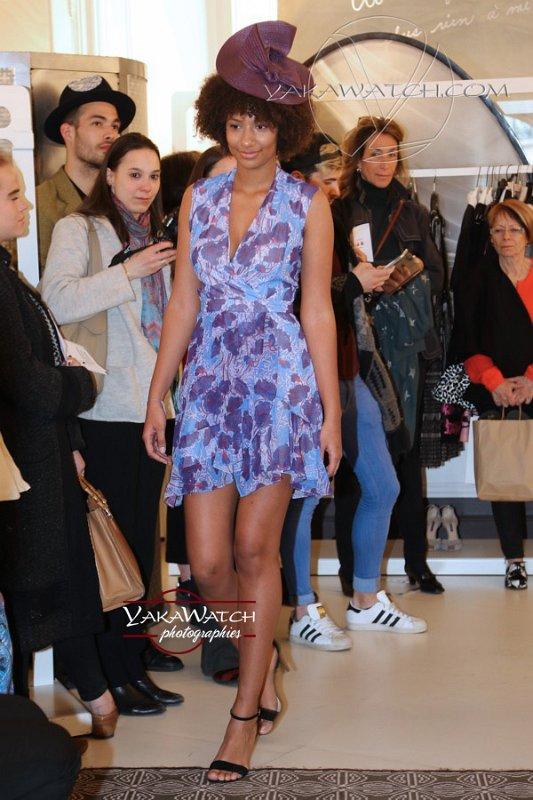 ELSSCollection - Robe Carven en mousseline - Chapeau Laurence Bossion - Photos Yakawatch