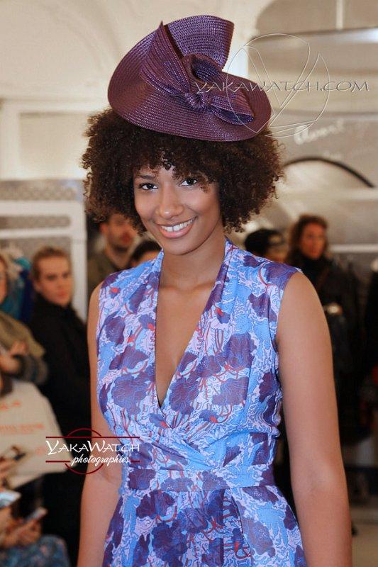 Robe Carven en mousseline - Chapeau Laurence Bossion - Photos Yakawatch