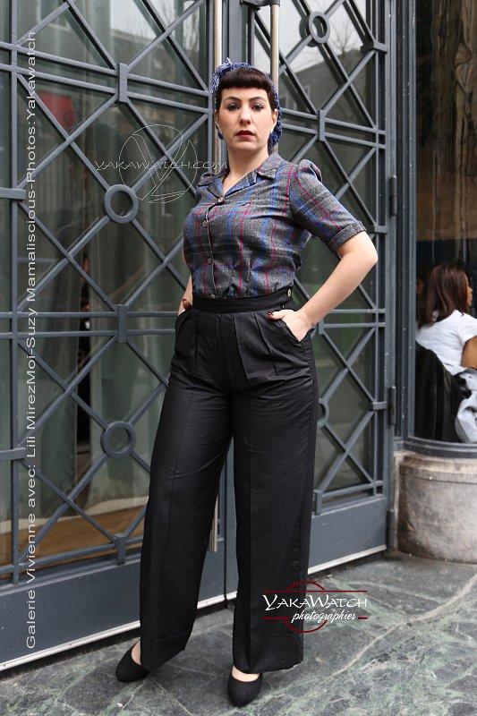 So frenchie par Suzy Mamaliscious - Chemisier Loretta, pantalon Pachouco