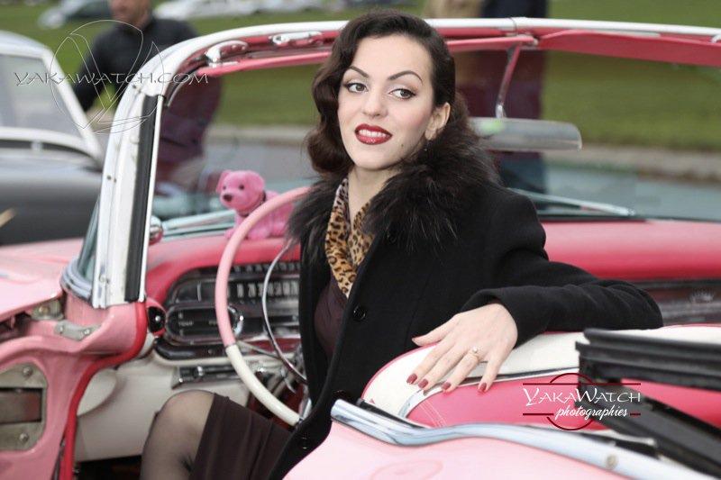 Vincennes en anciennes - Cadillac rose du film de Lelouch -Itinéraire d'un enfant gâté