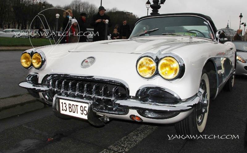13ème traversée de Paris hivernale | Chevrolet Corvette 1958