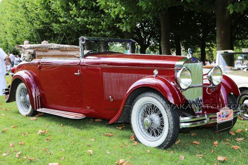 Delage D8 cabriolet 1931 - 7ème traversée de Paris estivale
