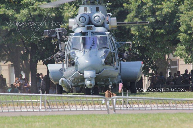 hélicoptère posé aux Invalides
